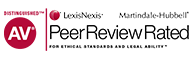 Distinguished AV | LexisNexis Martindale-Hubbell | Peer Review Rated For Ethical Standards and Legal Ability